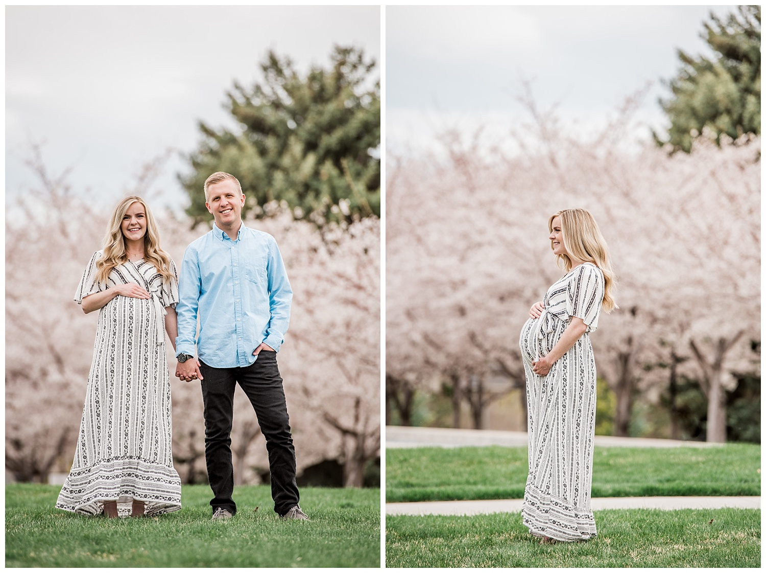 Dan Page Photography, Utah State Capitol Maternity Session, Spring Cherry Blossoms (4).jpg