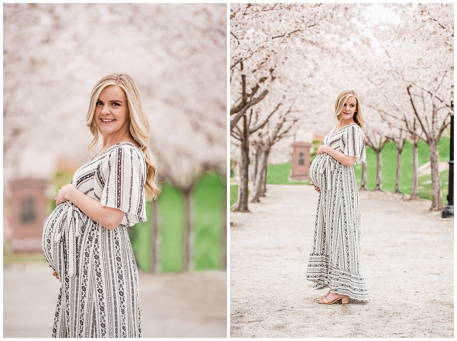 Dan Page Photography, Utah State Capitol Maternity Session, Spring Cherry Blossoms (9).jpg
