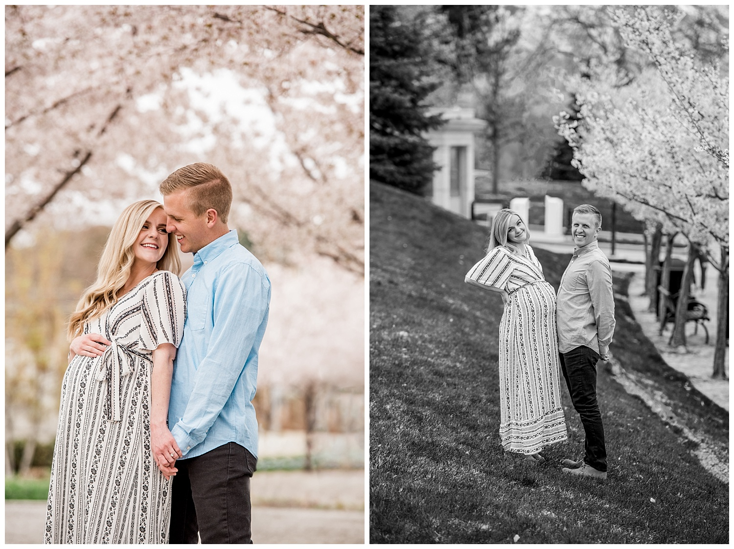 Dan Page Photography, Utah State Capitol Maternity Session, Spring Cherry Blossoms (10).jpg