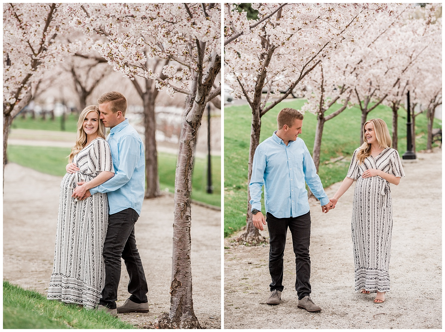 Dan Page Photography, Utah State Capitol Maternity Session, Spring Cherry Blossoms (13).jpg
