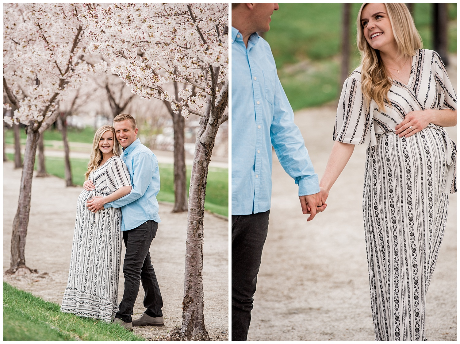 Dan Page Photography, Utah State Capitol Maternity Session, Spring Cherry Blossoms (14).jpg