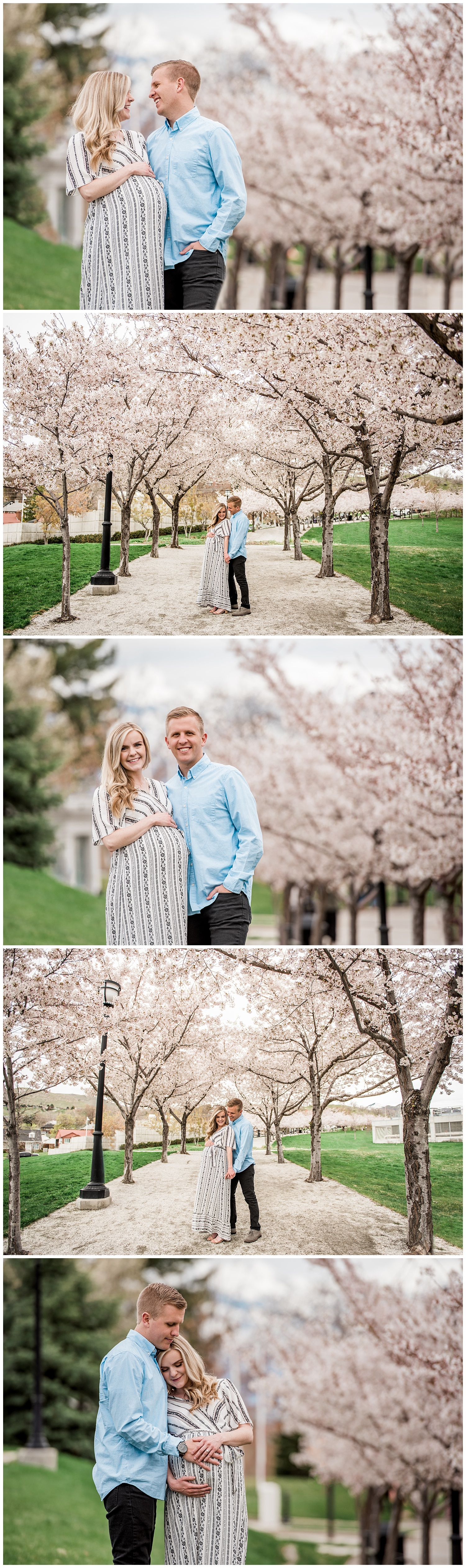 Dan Page Photography, Utah State Capitol Maternity Session, Spring Cherry Blossoms (11).jpg
