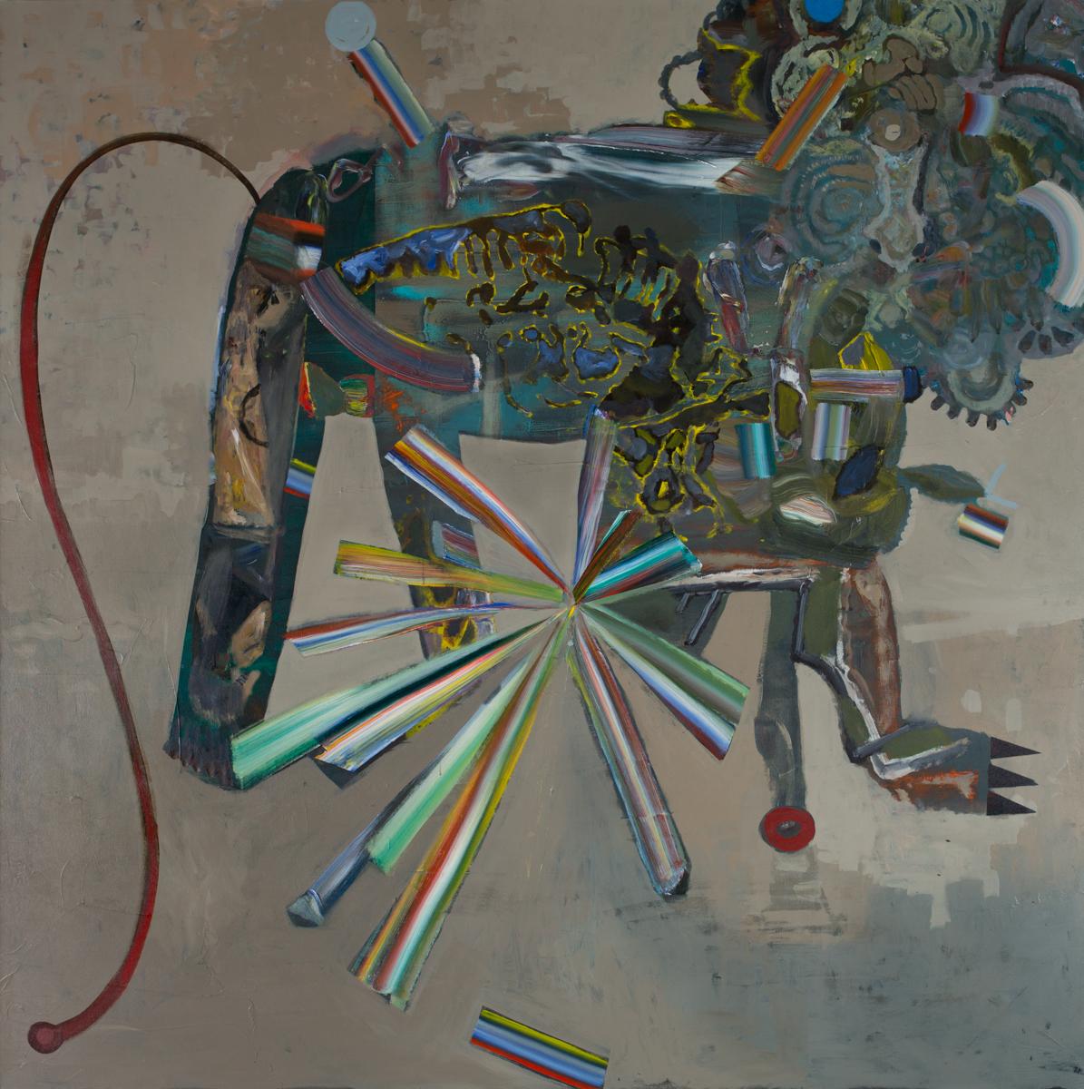Mixcoatl   Acrylic pigments on Canvas  72 x 72 Inches  2019