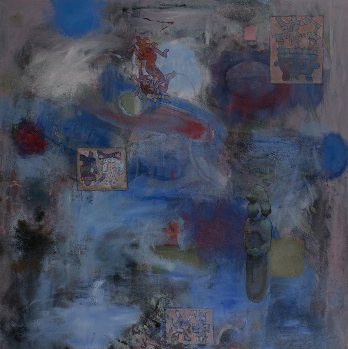 El Pozo    Acrylic pigments on Canvas  62 x 62 Inches  2019