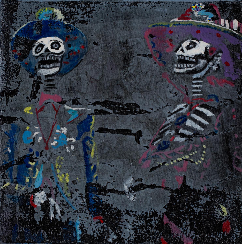 Los Enamorados   Acrylic pigments on Panel  10 x 10 Inches  2019