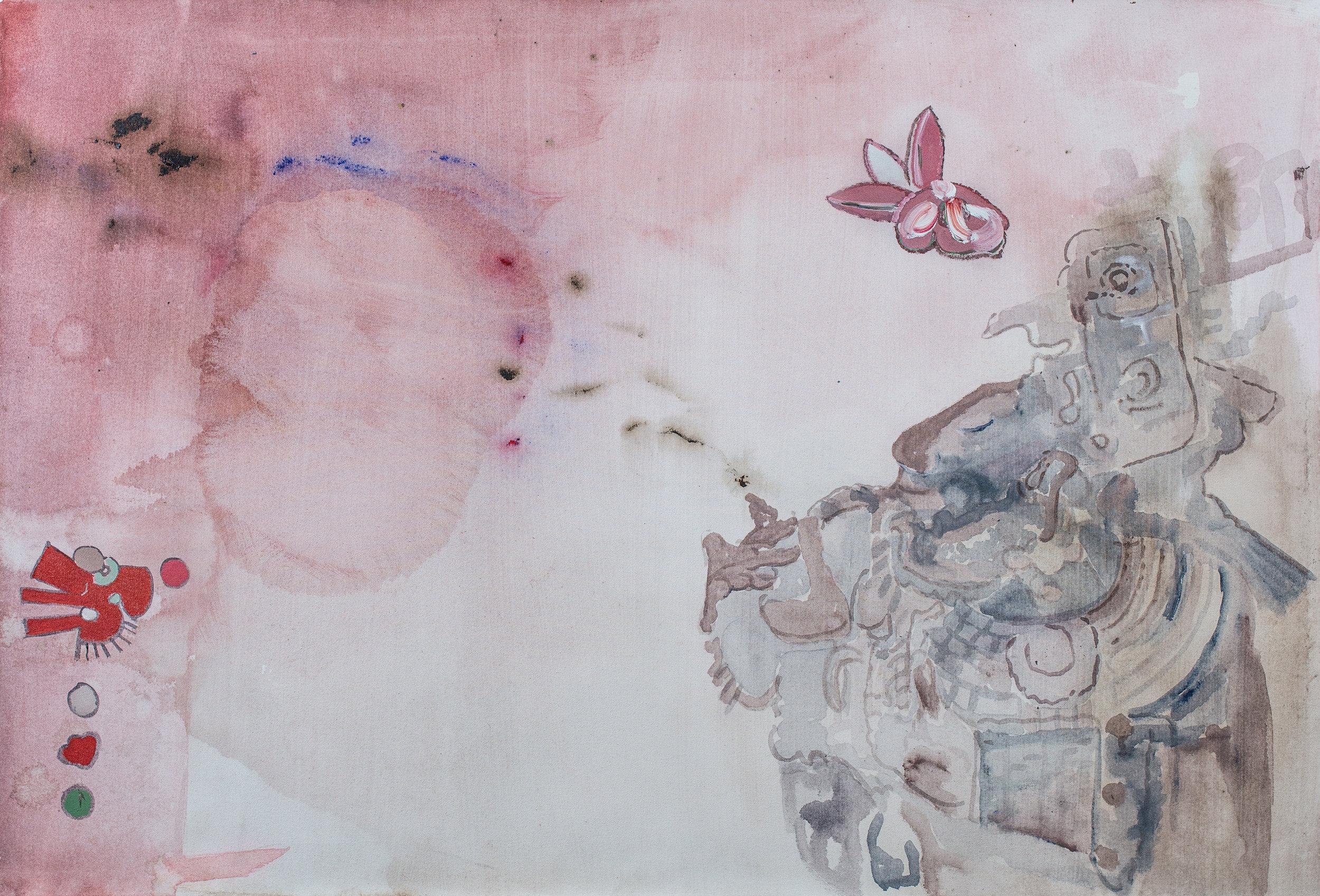 Sueño   Acrylic pigments on Canvas  48 x 32 Inches  2019