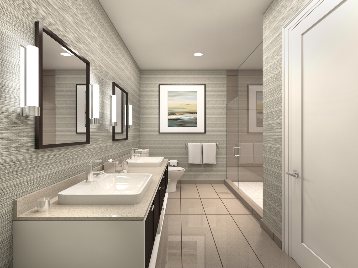 Model Suite Master Ensuite with Double Vanity