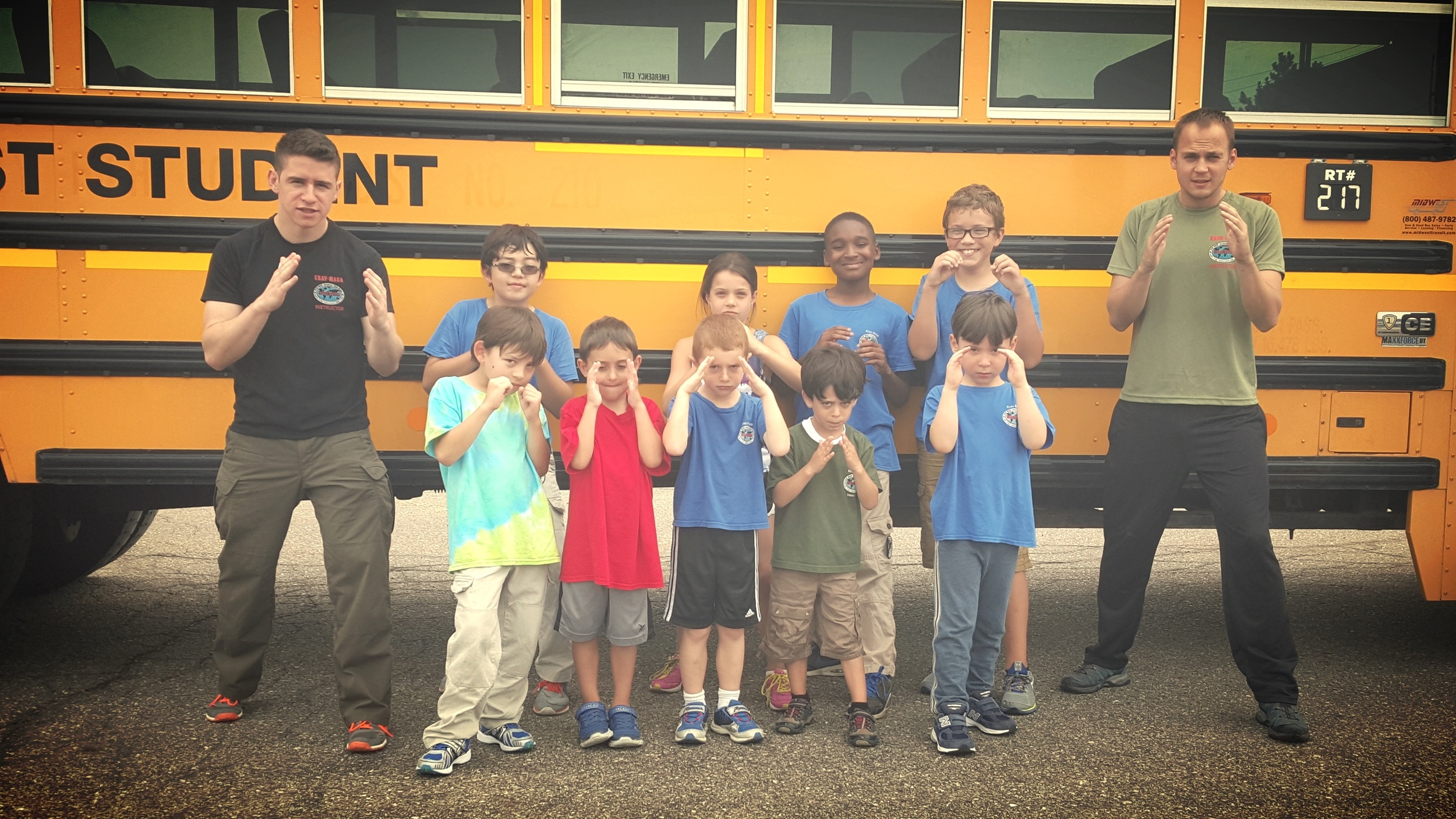Have you trained your kids to deal with self defense situations on a bus?