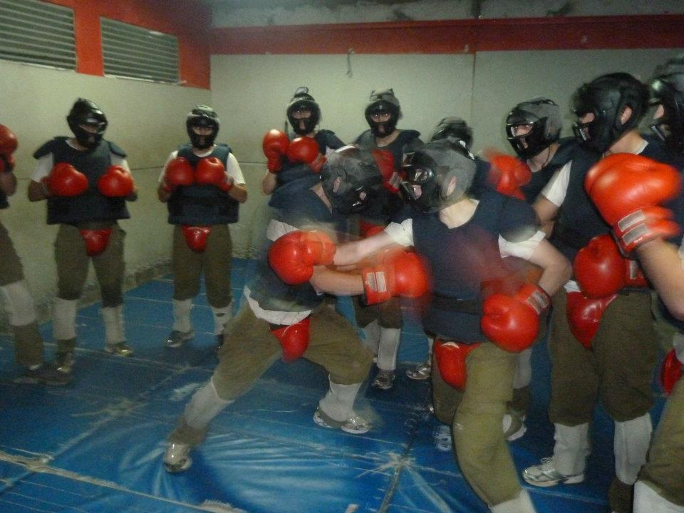 Sparring sessions during IDF special forces training