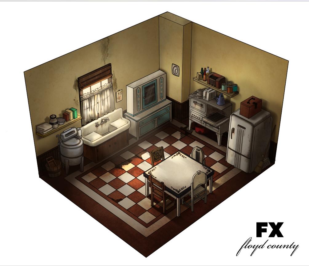 Archer: Dreamland  - Pam's Kitchen Concept Design