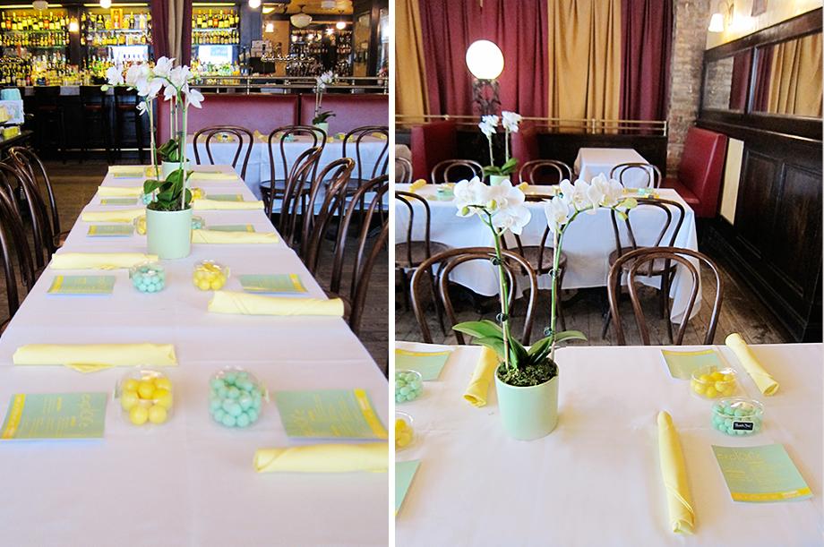 Venue: Papillon Bistro NYC  Styled by Bonito Design & Events