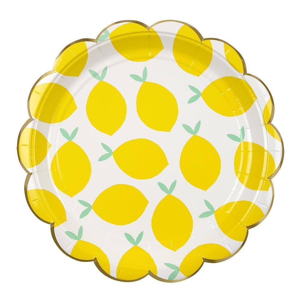 meri meri lemon plates