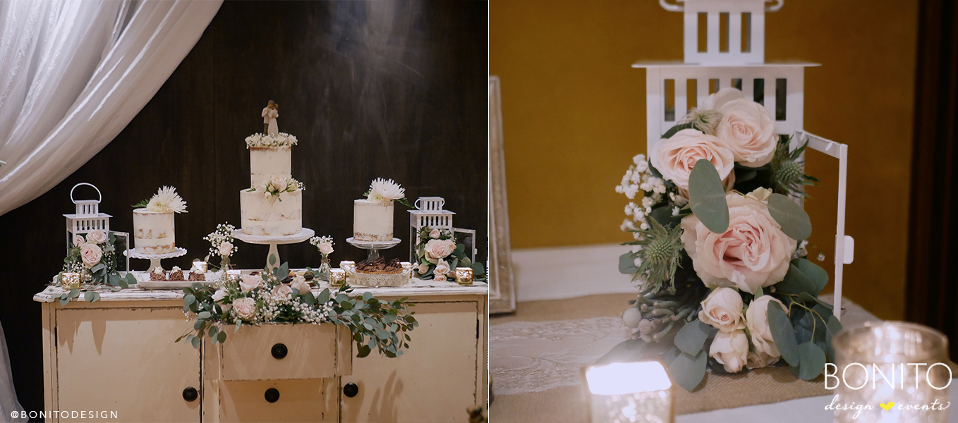 Melissa opted for a Rustic Wedding styled by BONITO, which you can see more photos  HERE .