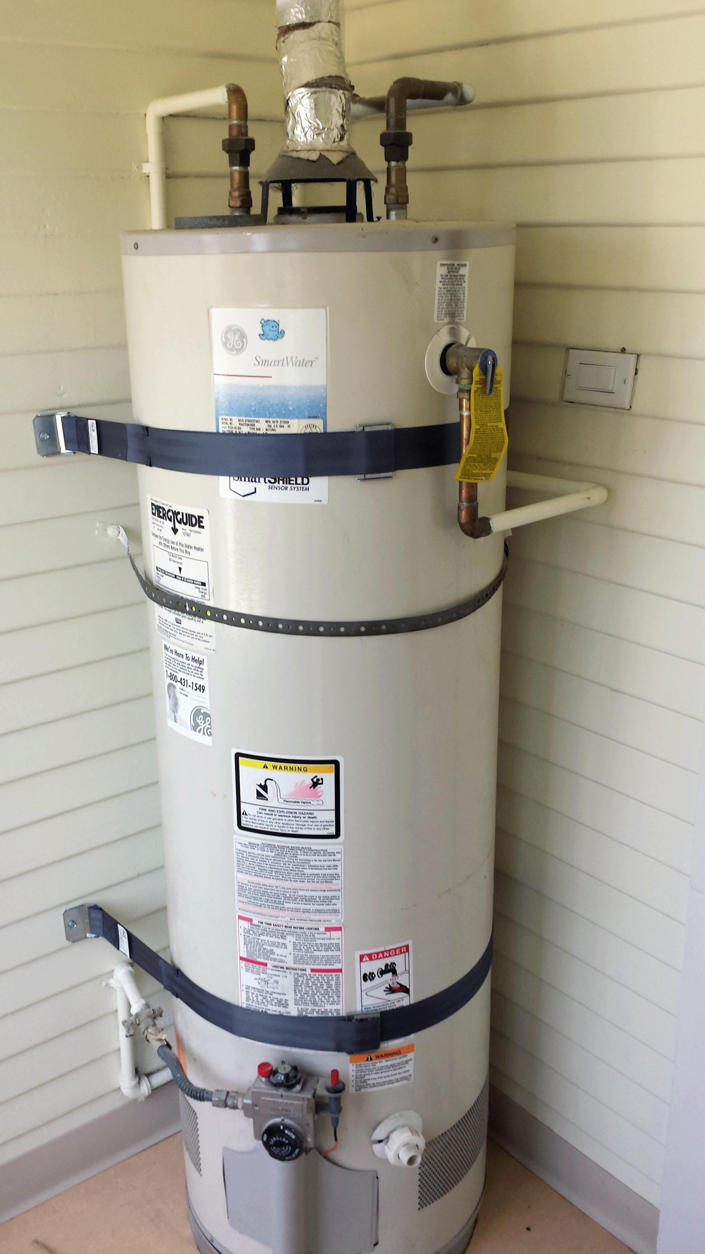 Water heater installation.