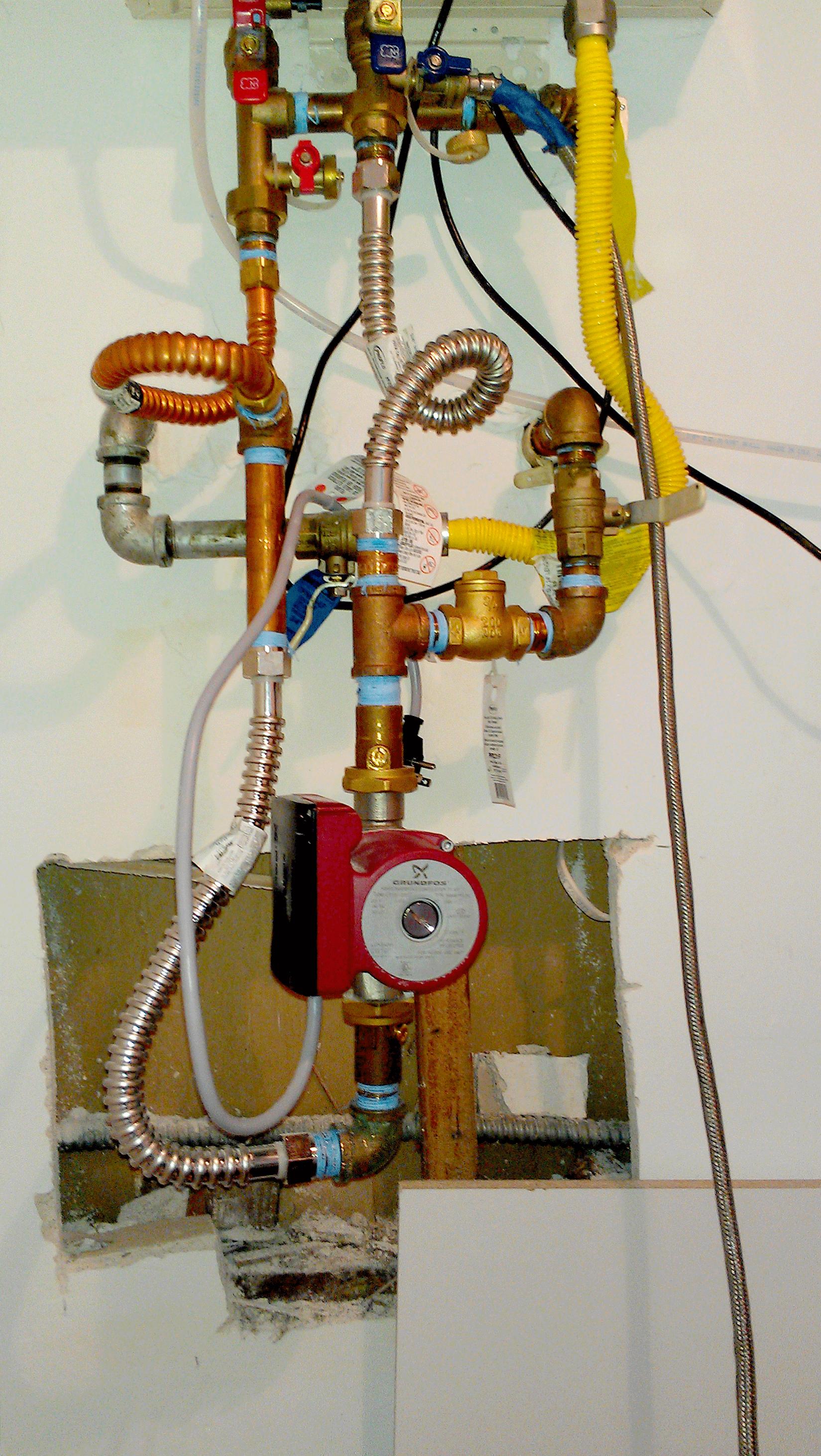 Noritz tankless water heater.
