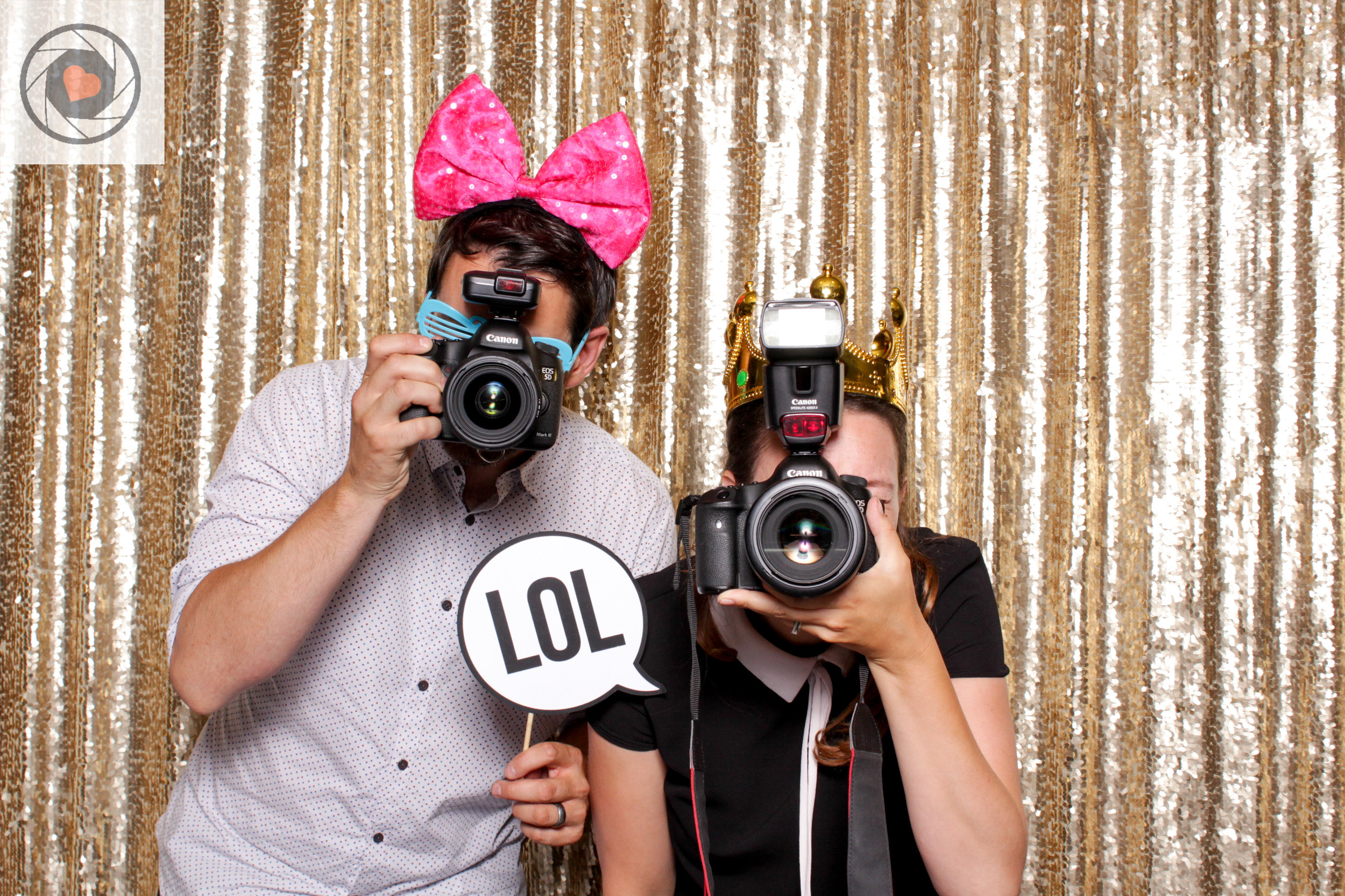 yyc wedding photographers in photobooth
