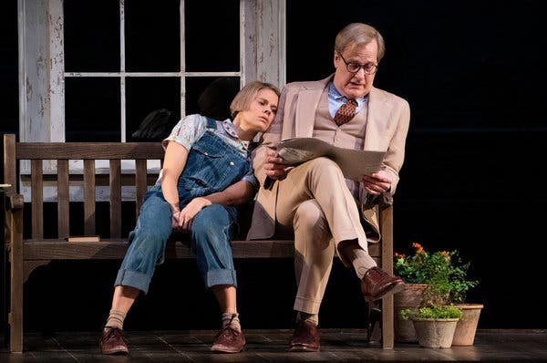 Scout and Atticus Finch, played by the inimitable Celia Keenan-Bolger and Jeff Daniels