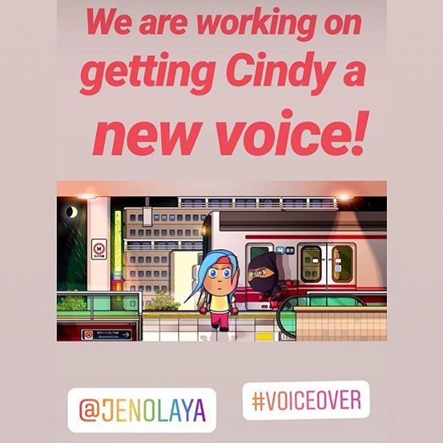 A happy collaboration announcement! Stay tooooned!  Thanks @minitoongames! . . . #animation #videogames #voiceover #ninja #girlgamer  #jenolayasweetspotvo