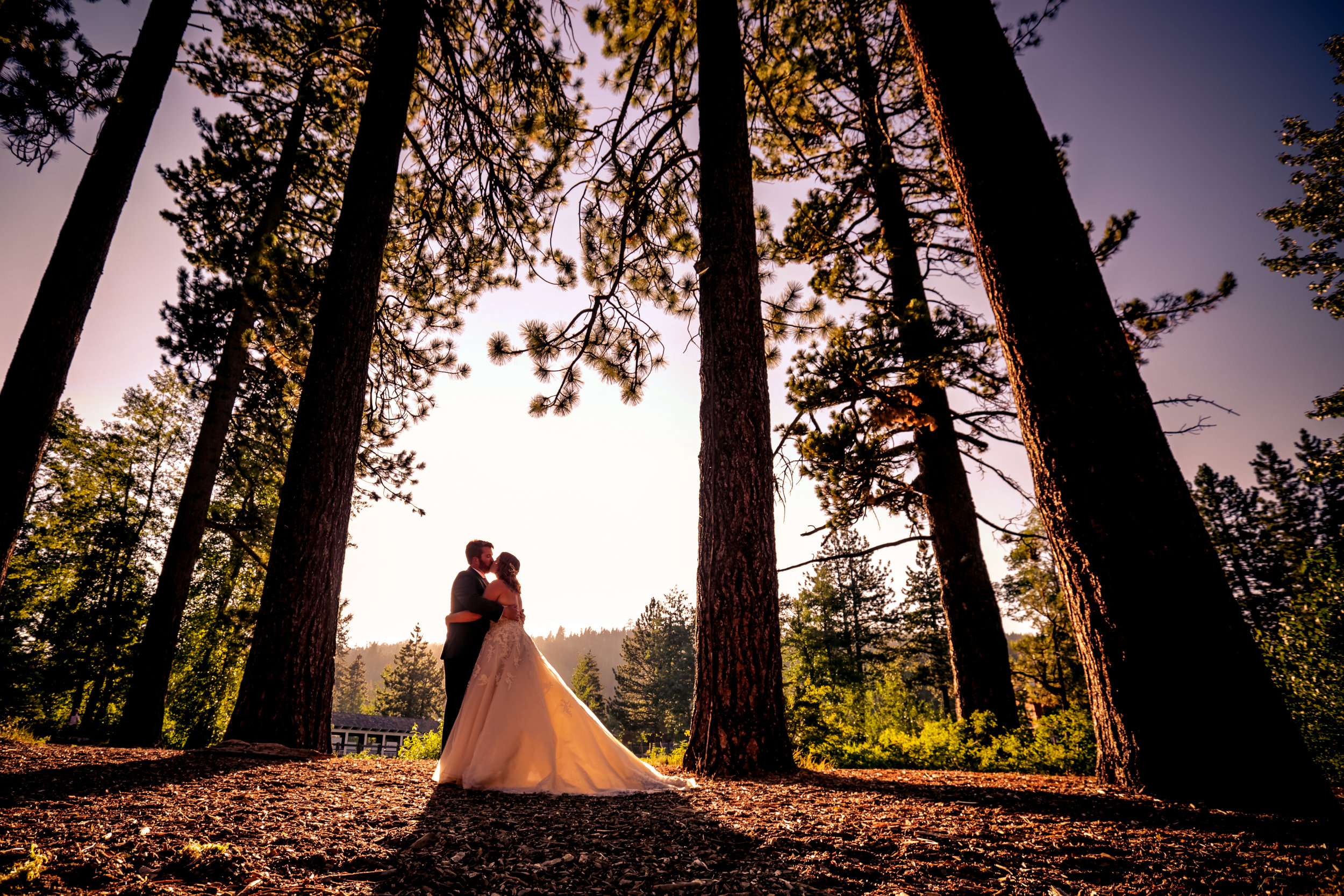 photo of couple getting married in lake tahoe gatekeepers