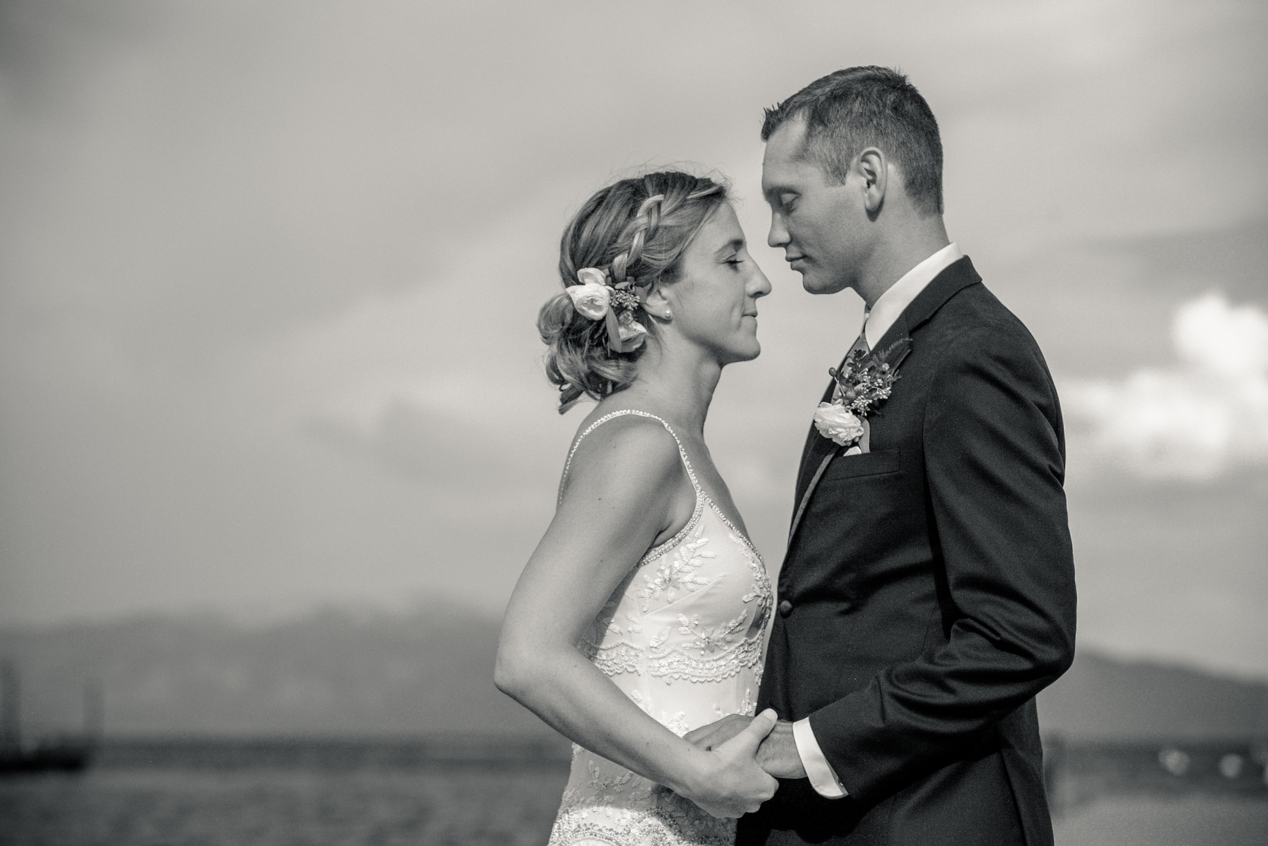 photo of lake tahoe lakefront wedding