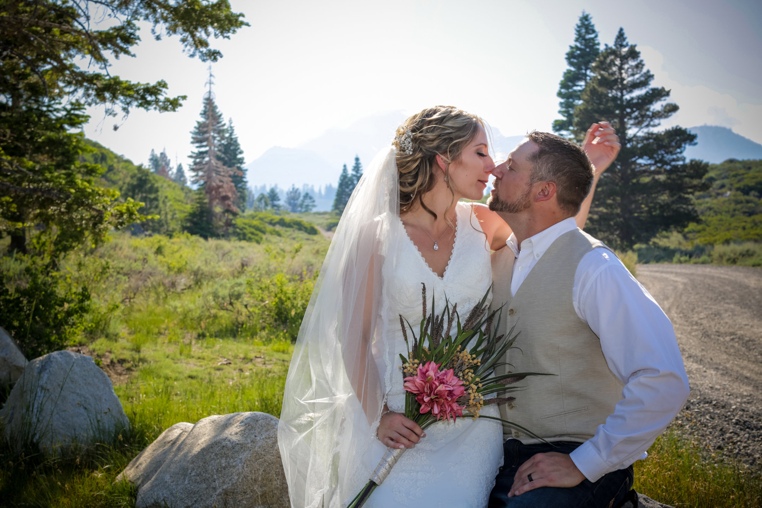 photo of lake tahoe outdoor wedding photo