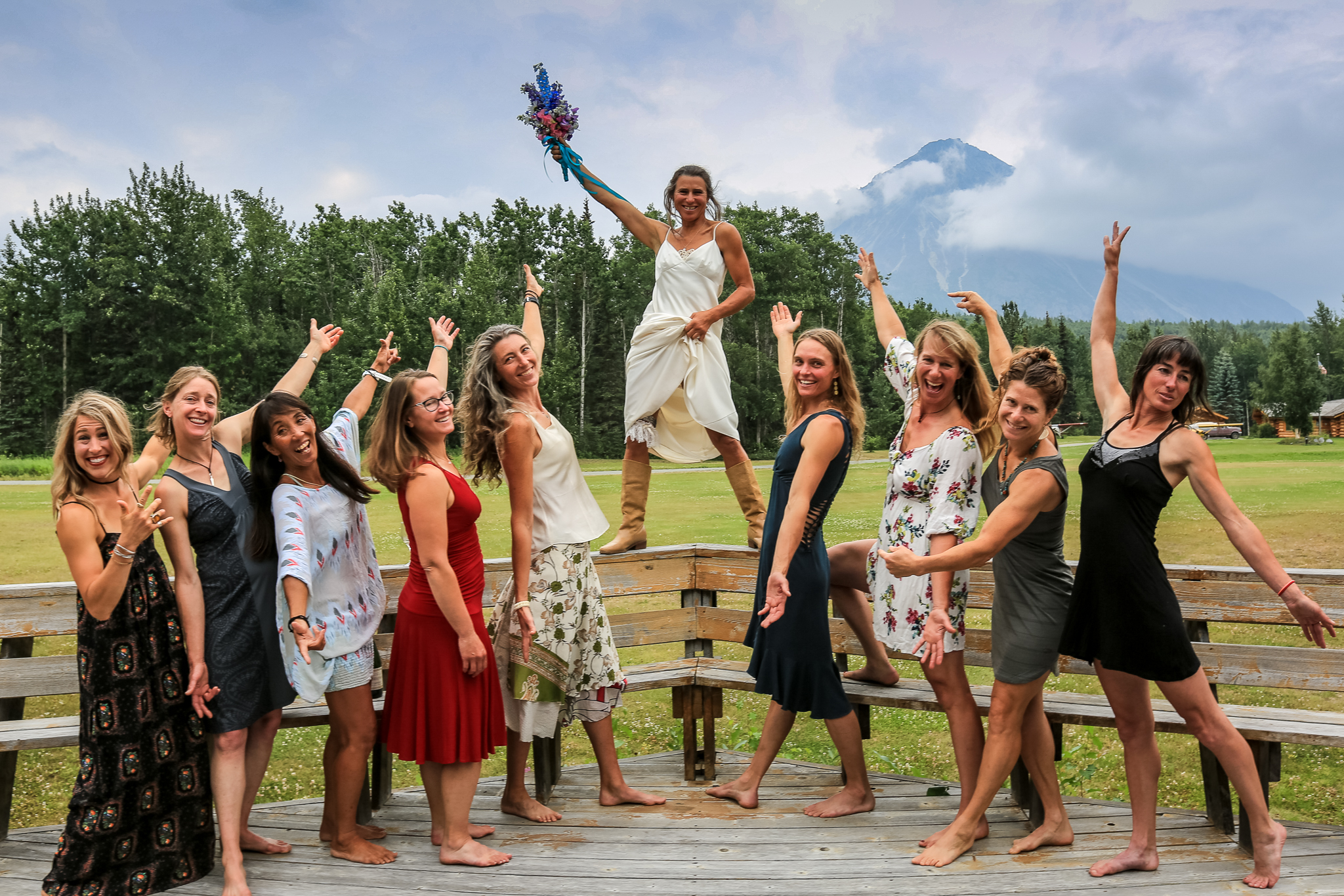 photo of outdoorsy wedding bride