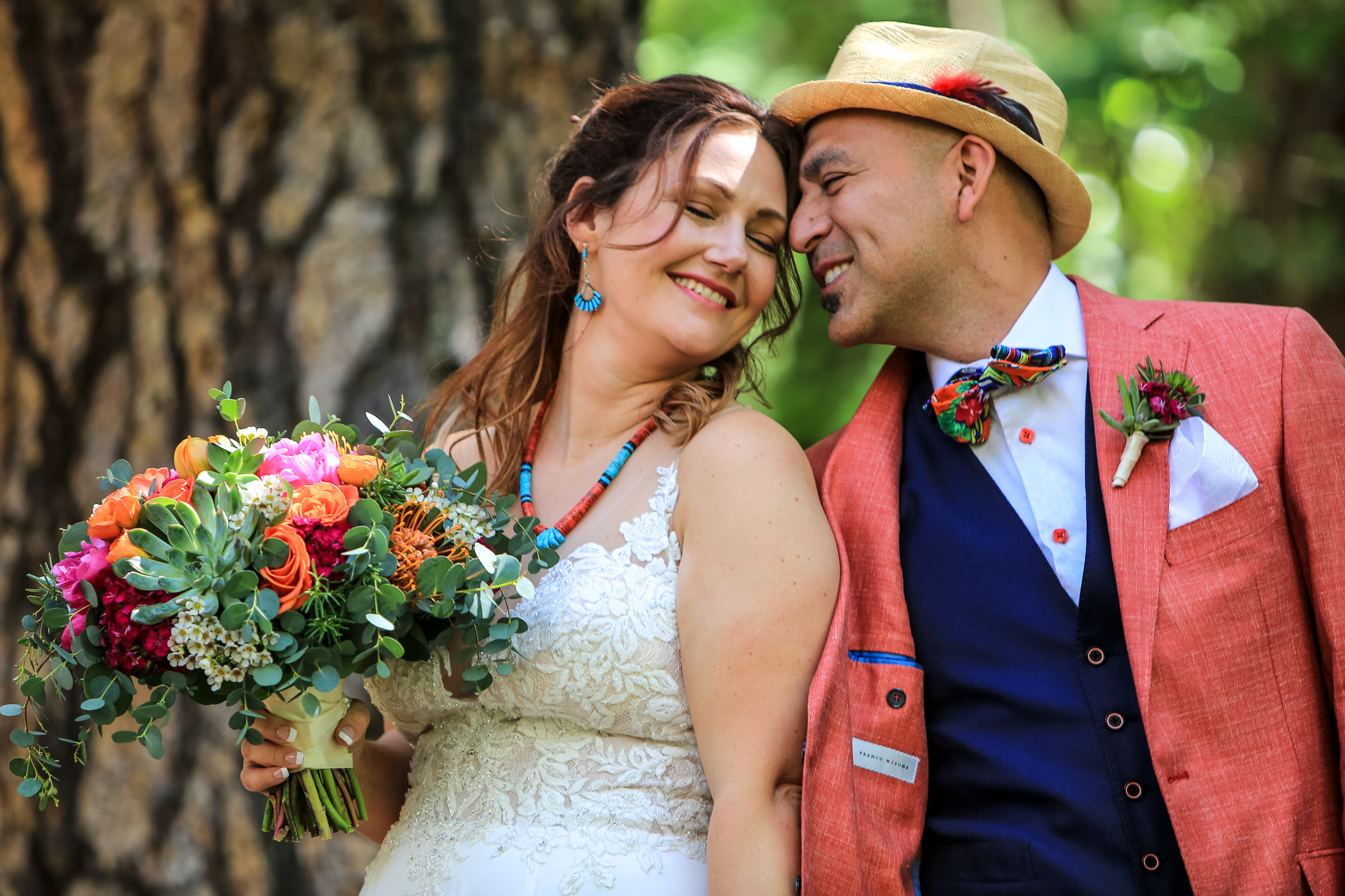 photo of couple after their yosemite wedding