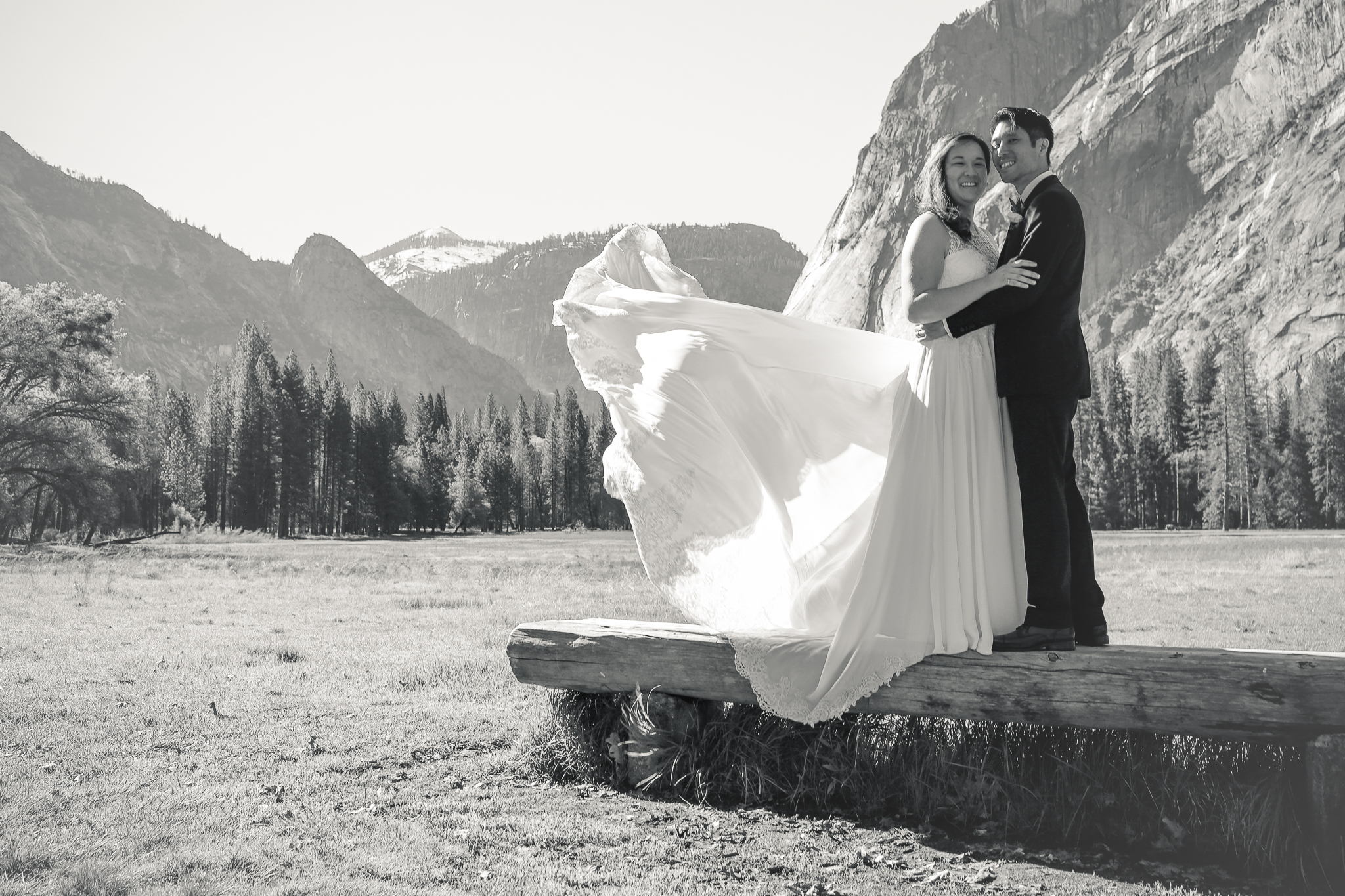 photo of  majestic yosemite hotel wedding photography