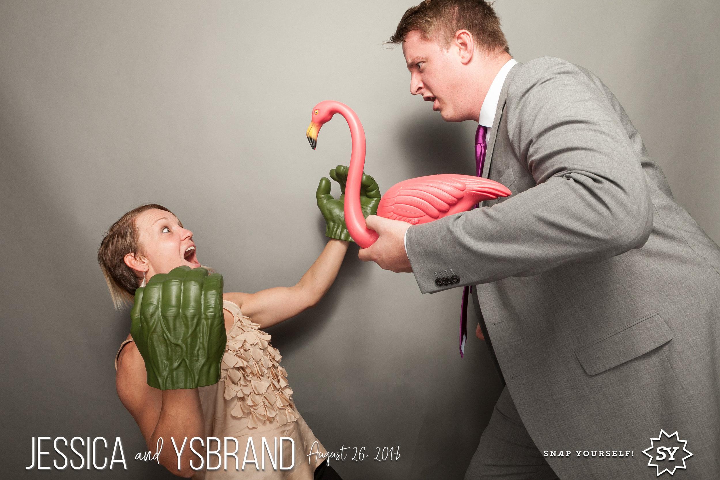 photo of yosemite wedding photographer at photo booth