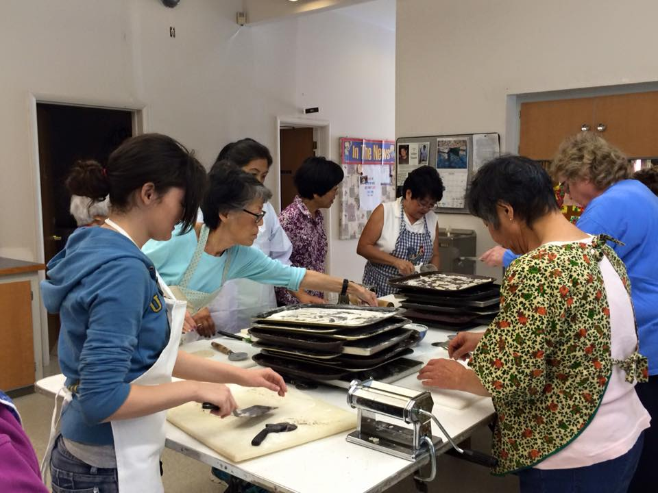 Making Senbei - Fall 2015