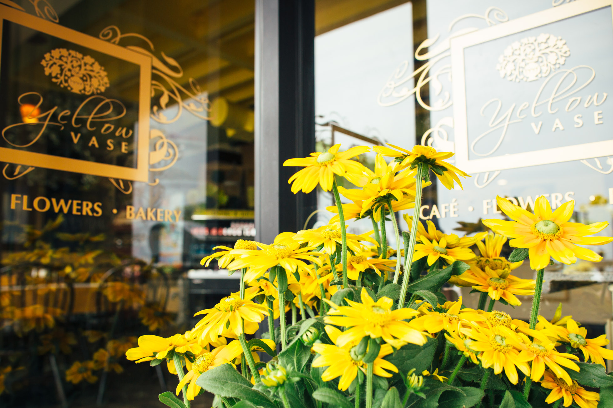 Yellow Vase, one of my favorite cafés here in the area. Come and have a seat with me.