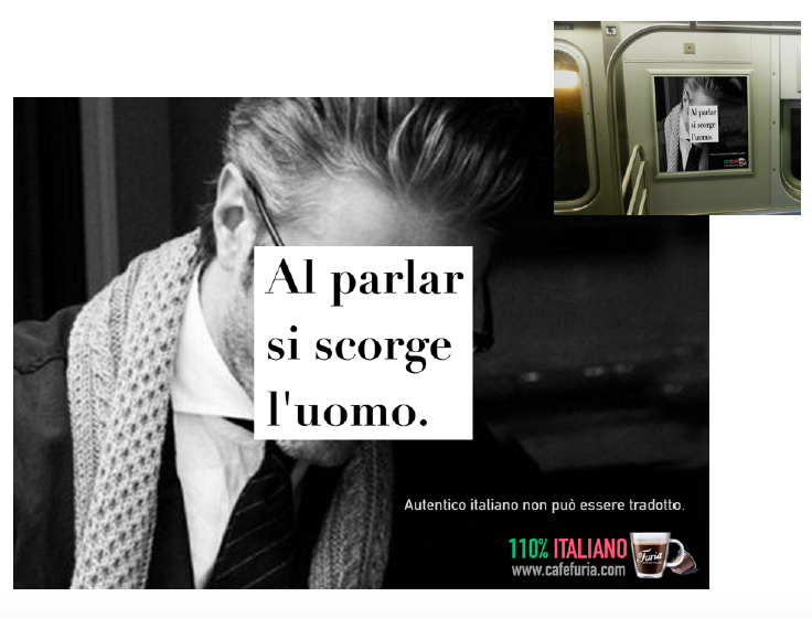 """""""In the speech you recognize the man.""""    You can't translate Italian Authenticity."""