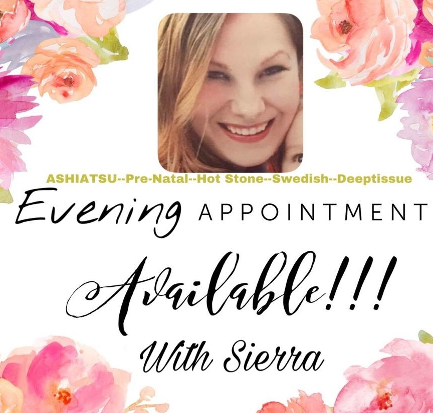 Book Now Below - Evening appointments until 8pm