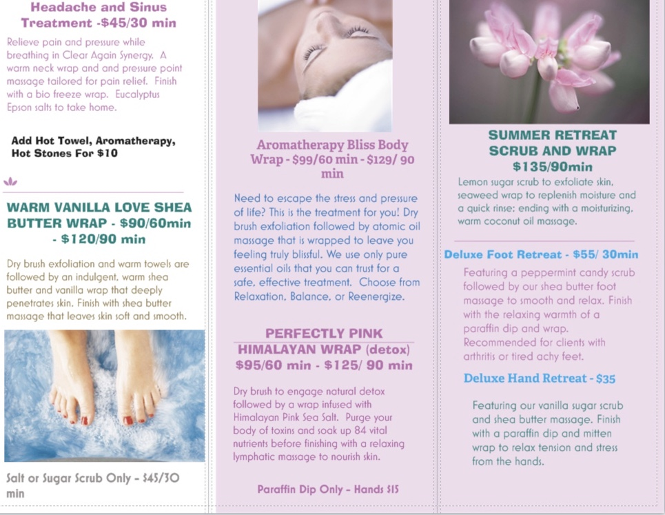 Spa Services With Rebecca — Warehouse660 24 hour Gym and Massage Therapy