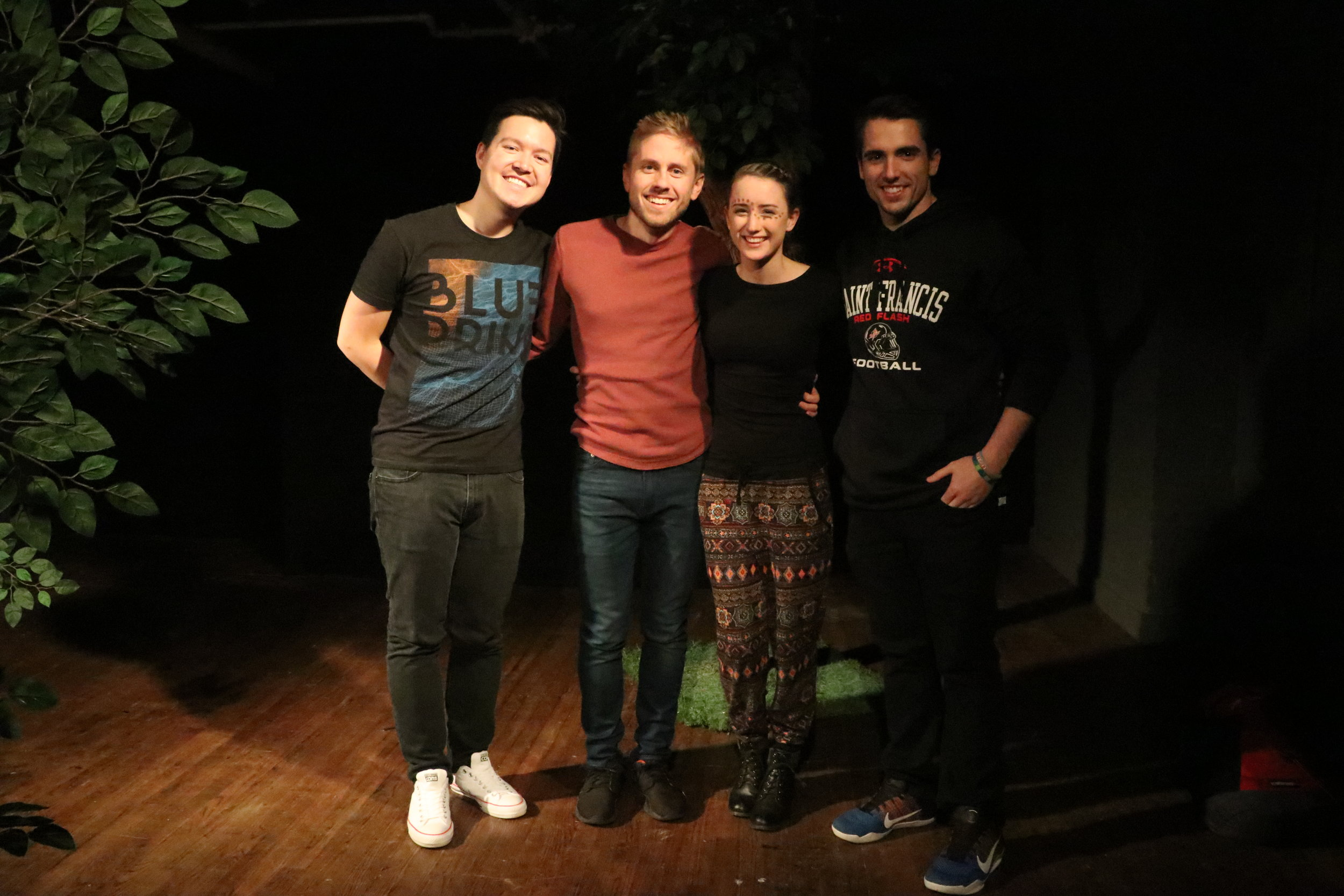 (L to R) Taylor Song, Matthew Justmann, Amy Letcher and Joseph James Pucciarella