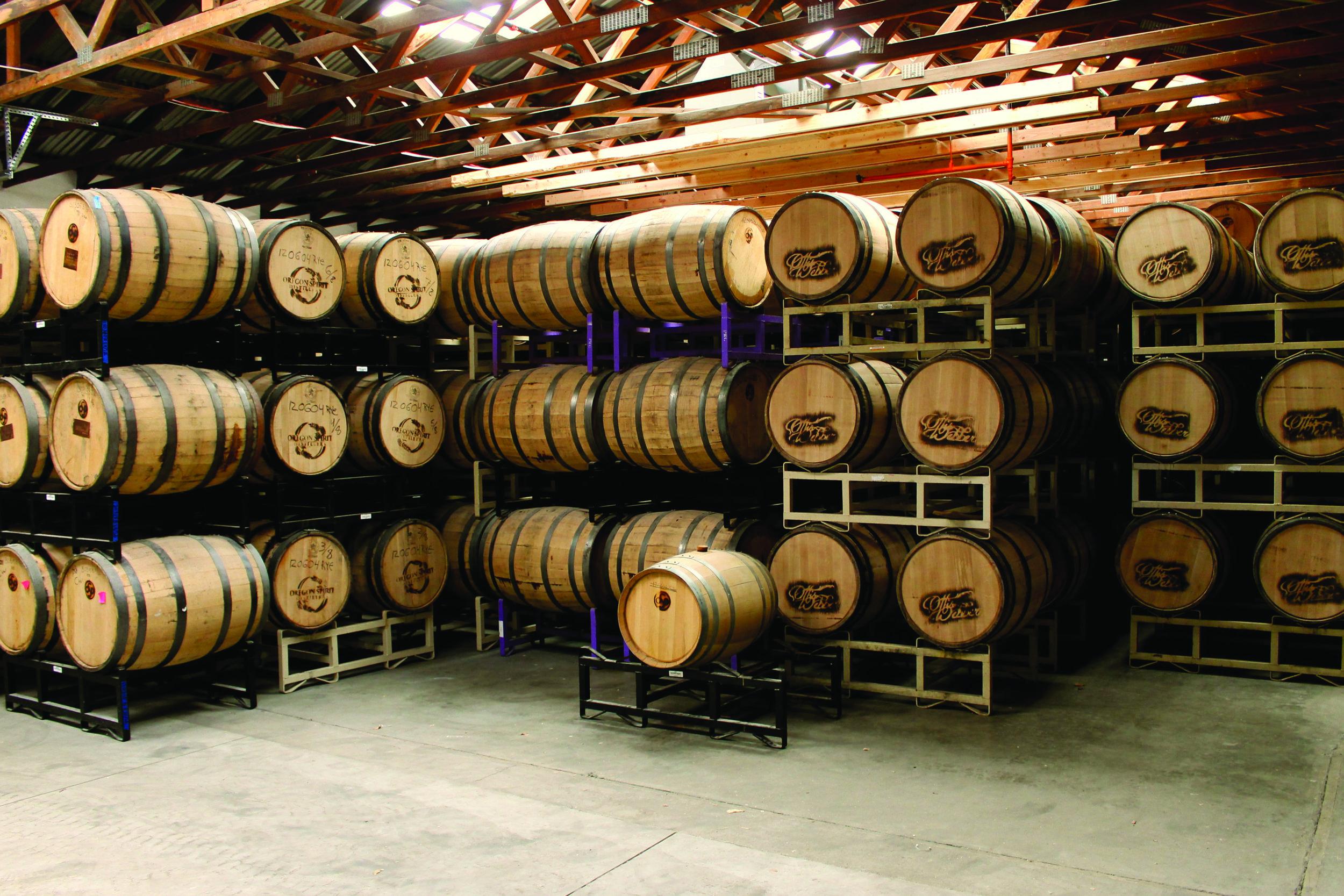 Oregon Spirit Distillers Barrels