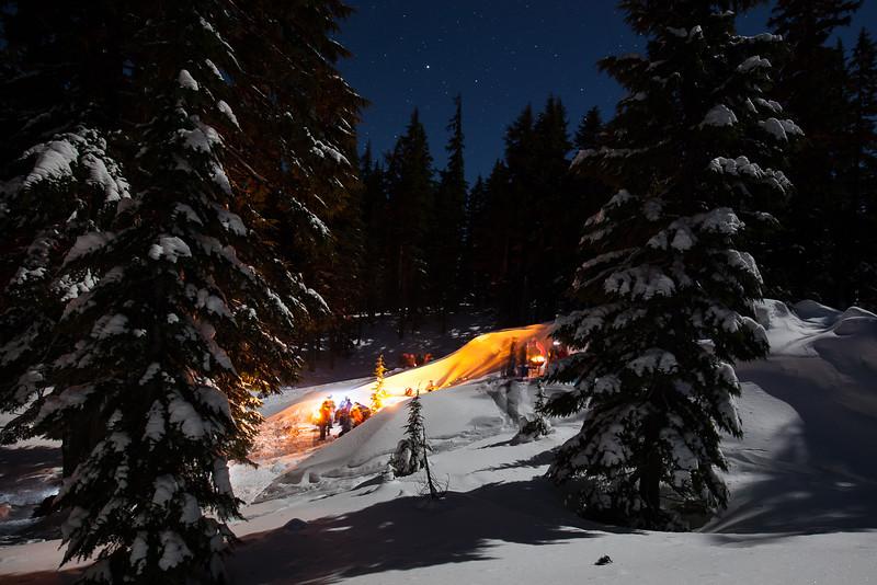 Bonfire on the Snow