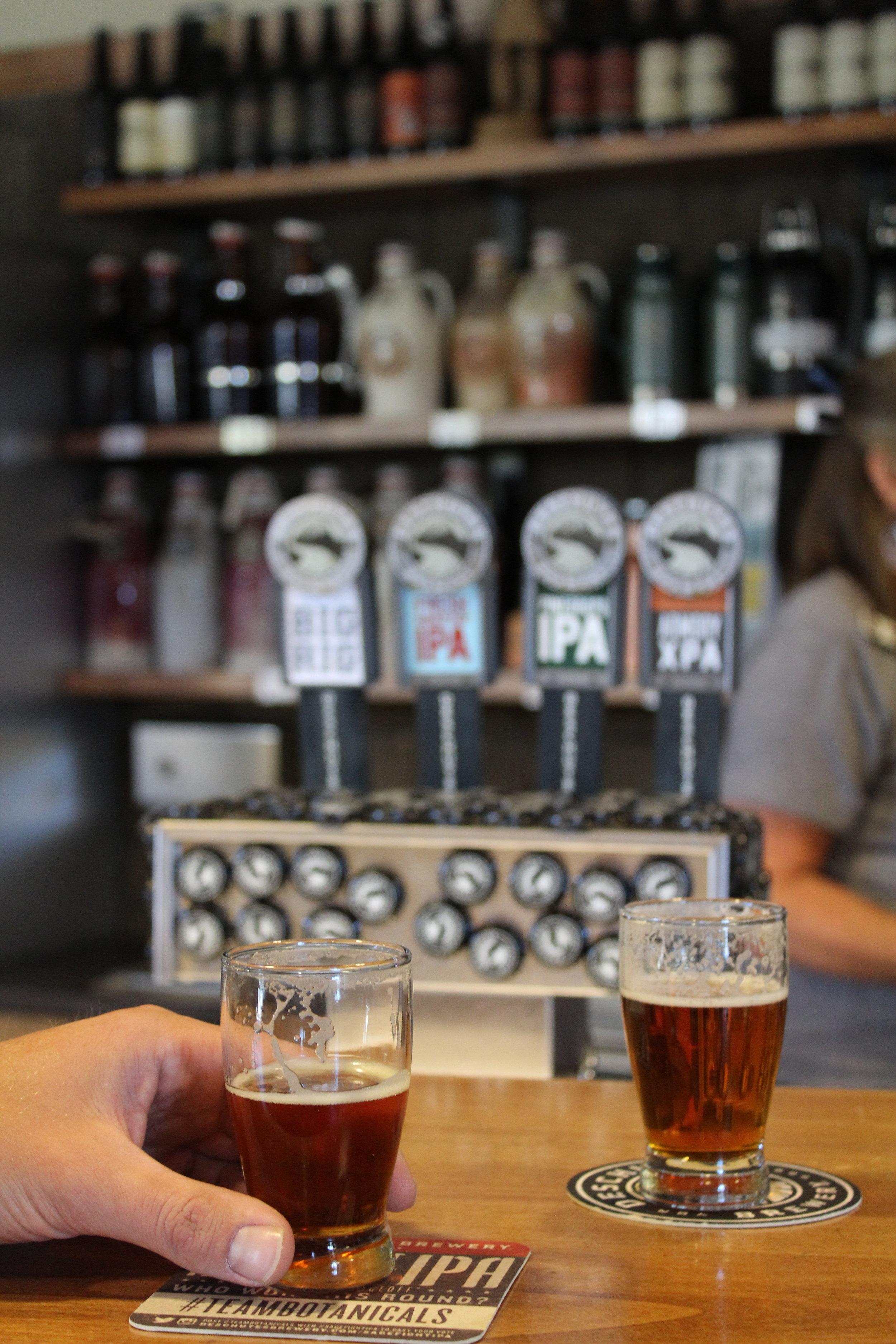 Drink beer at Deschutes