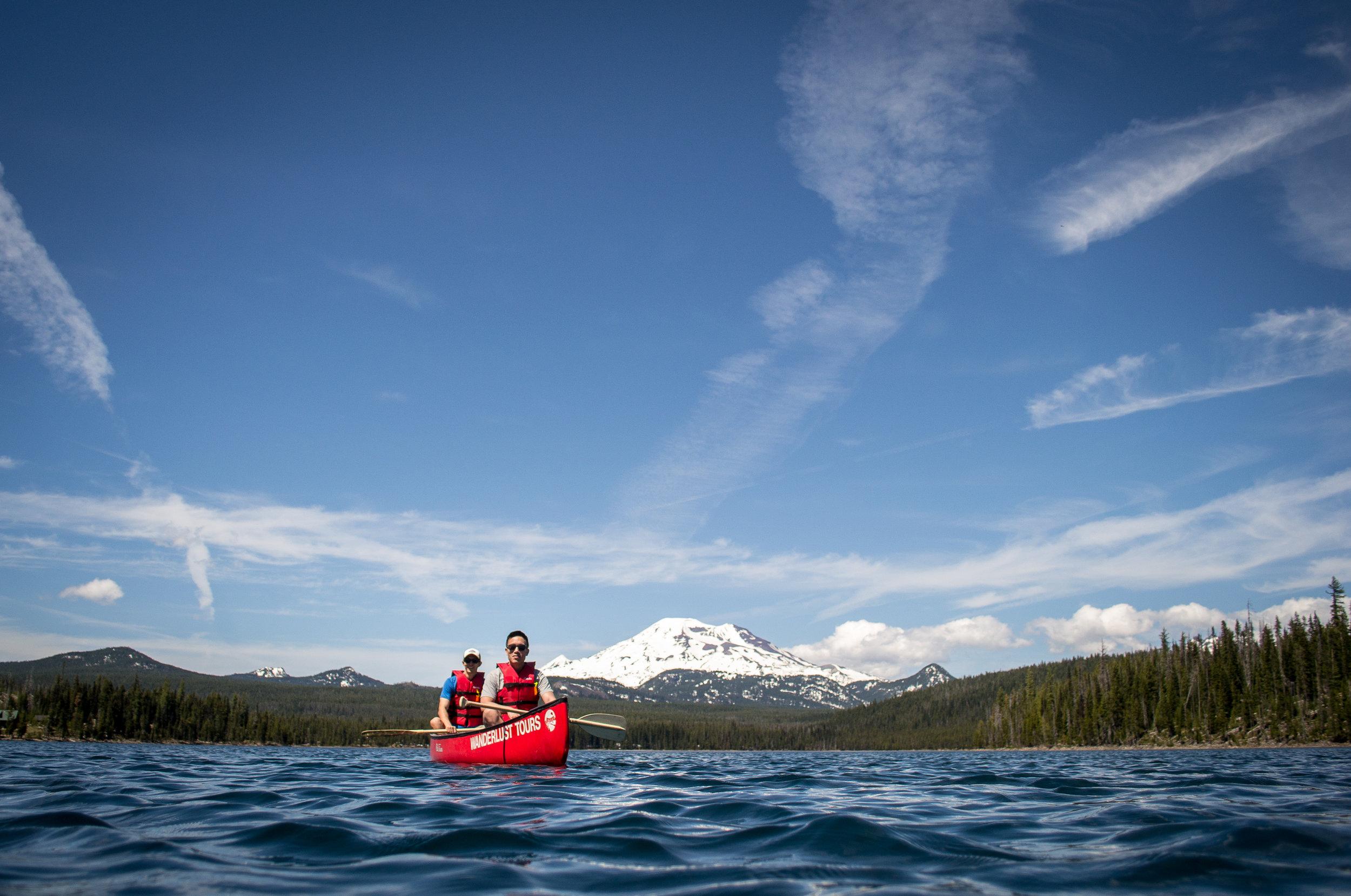 Canoe Cascade Lakes Oregon