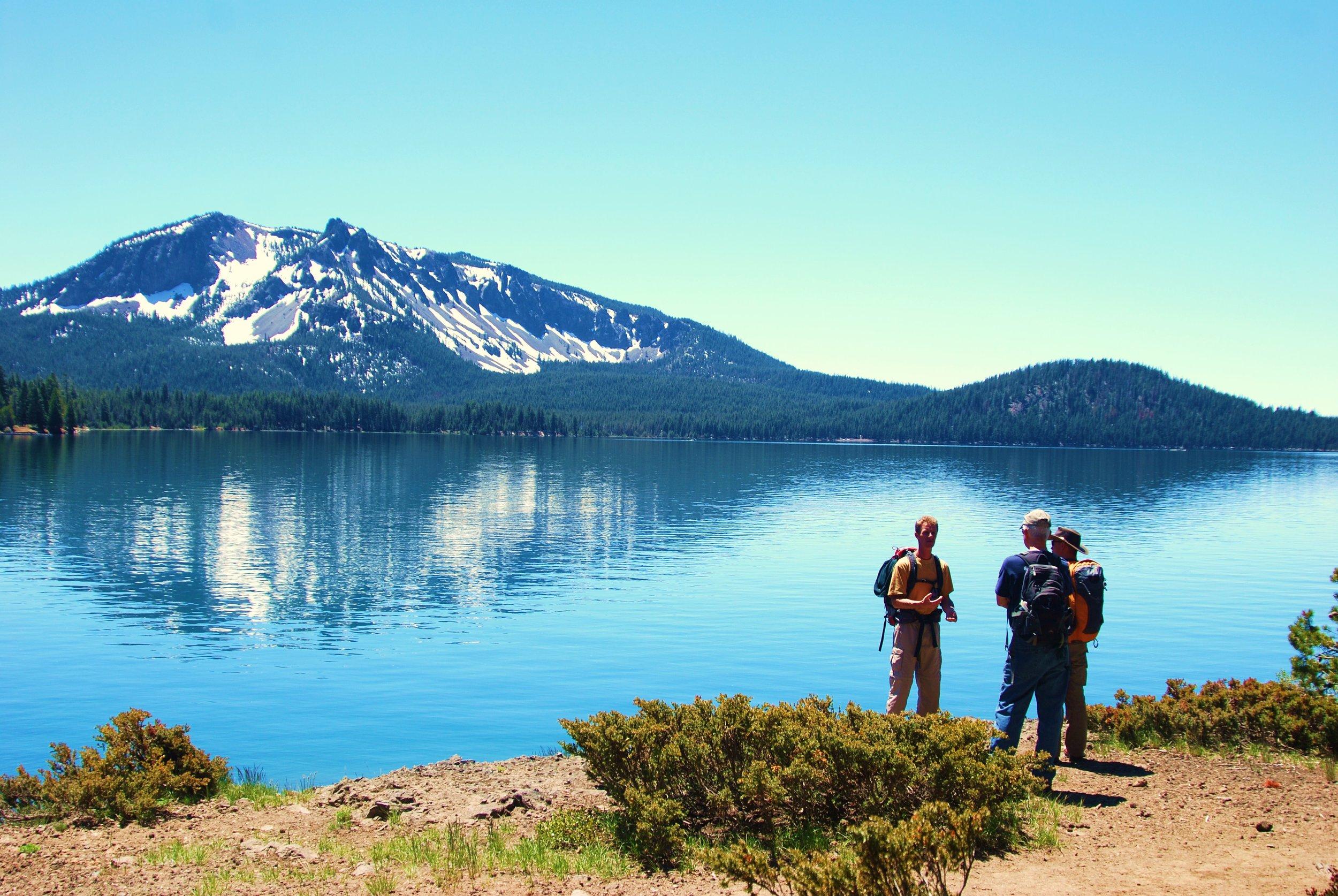 Dave at Paulina Lake