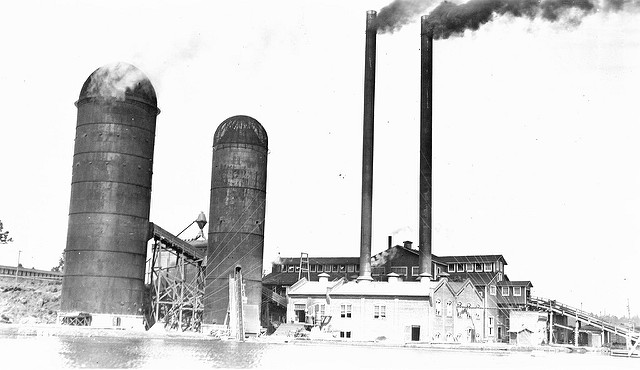 The old Brooks-Scanlon saw mill. Image courtesy of OSU Special Collections.