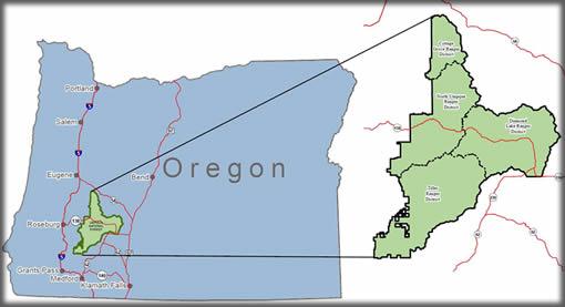 Umpqua National Forest. Photo from the  USDA website .