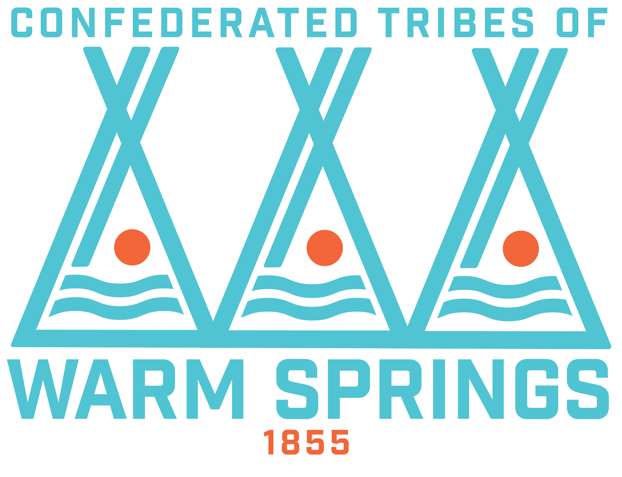 Official logo of the    Confederated Tribes of Warm Springs