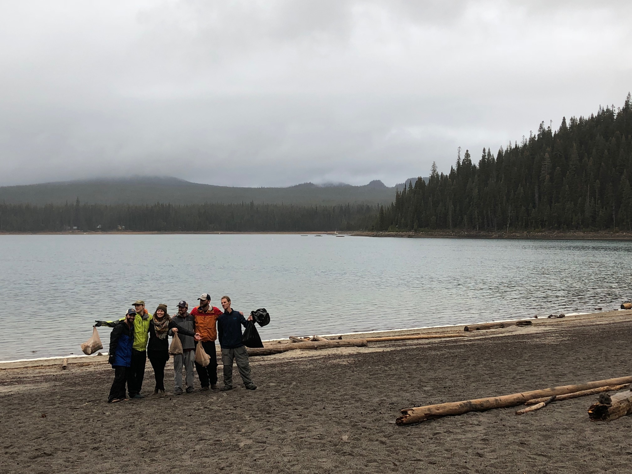 The Wanderlust Tours staff on the Cascade Lakes Cleanup!