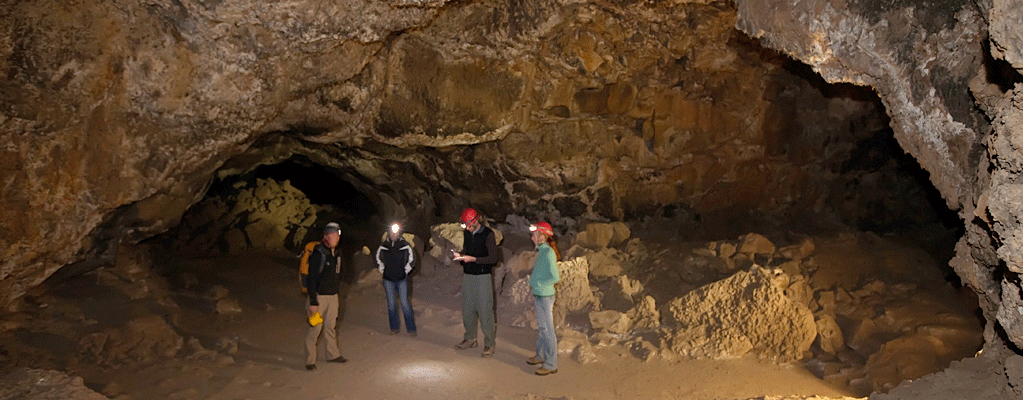 Explore the lava caves near Bend, Oregon with a professional guide!