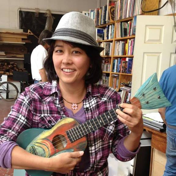 Photo by Dan Vilter at Mike DaSilva Ukulele Co. in Berkeley, CA