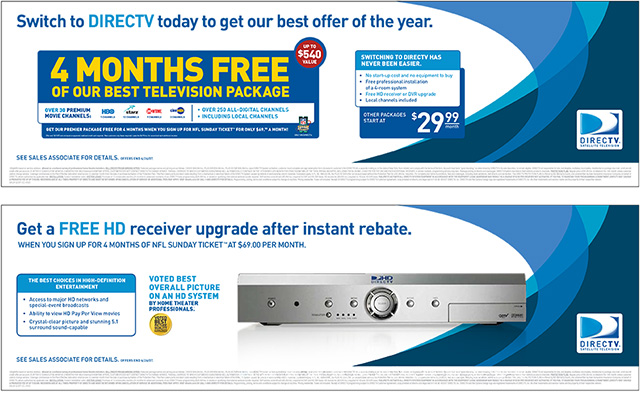 DirecTV Point of Purchase Displays