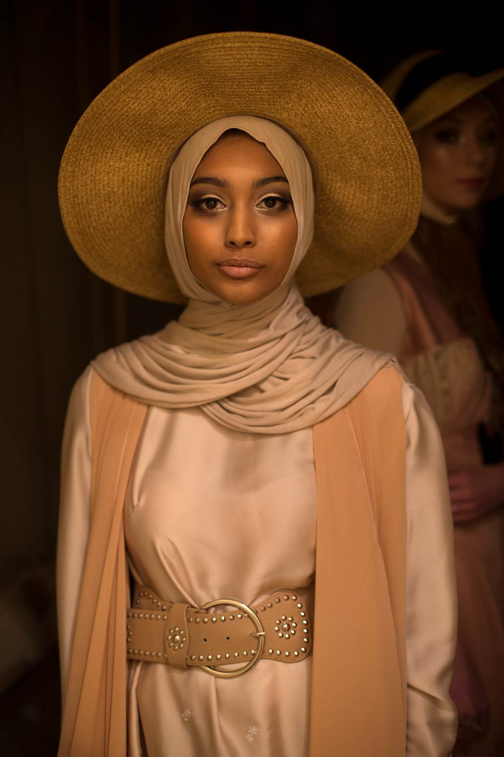 """BACKSTAGE BEFORE THE """"HIJAB RUNWAY"""" CREATIVITY UNLEASHED EXPO, PARRAMATA TOWN HALL, 2015, pigment print on cotton rag, $ 250"""