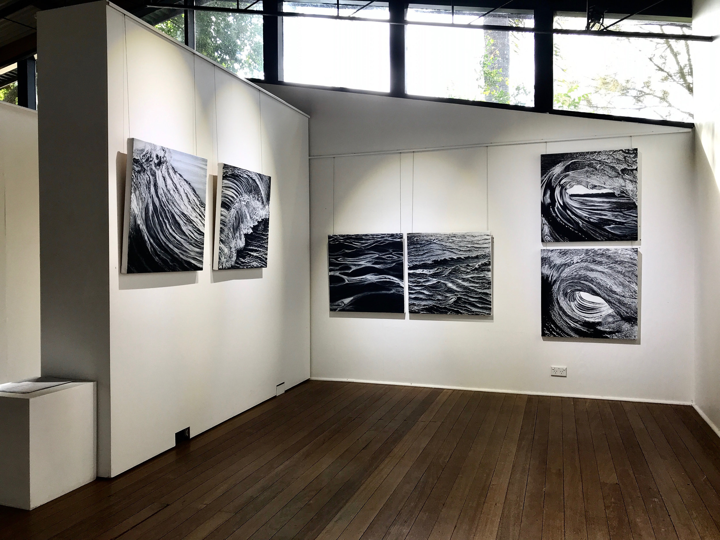Exhibition view of Invisible Bridges at Creative Space, 2018, curated by Cassia Bundock