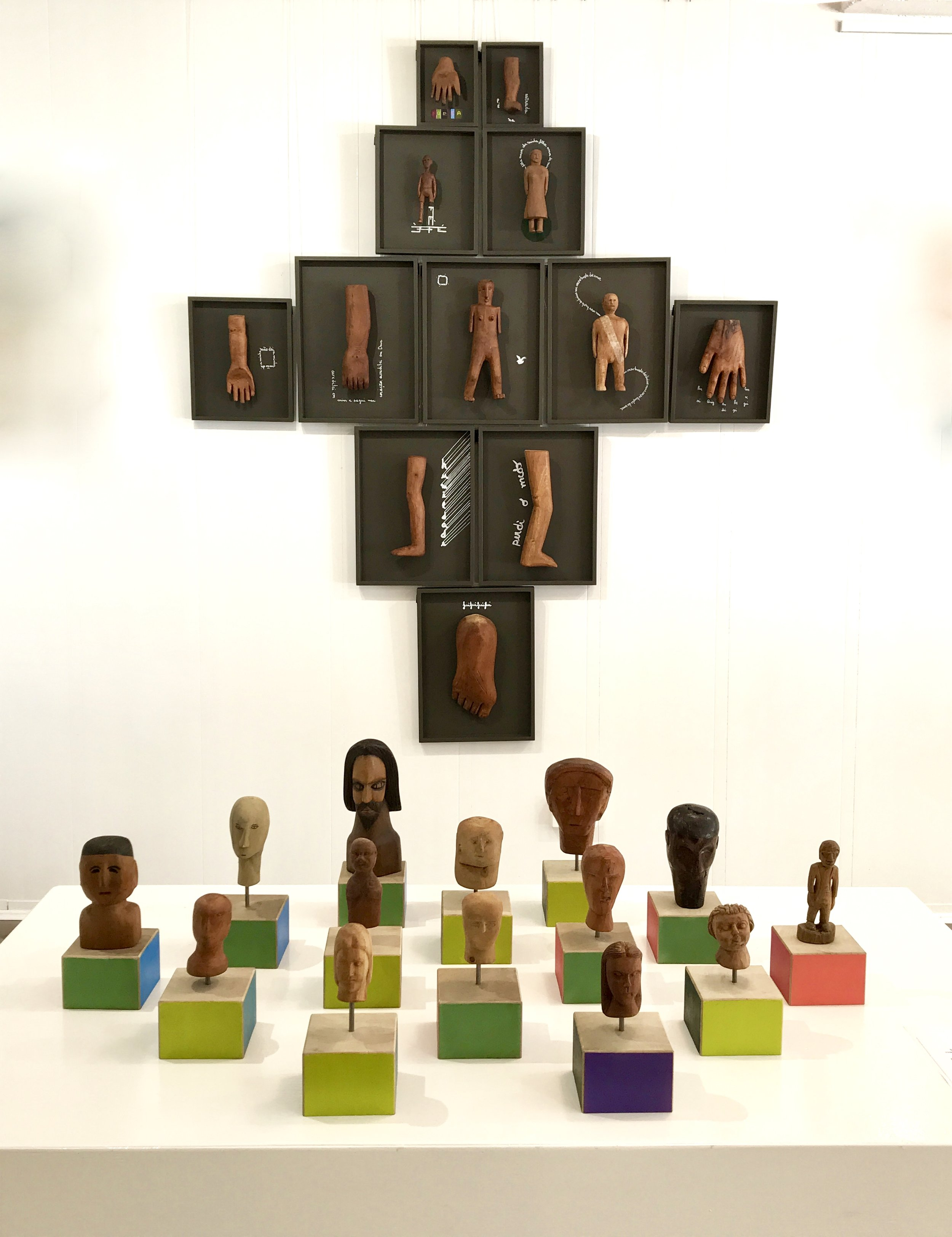 Installation view Mythical Speech, 2019, wood, steel and acrylic paint, exhibited at Be Brave Art Space - 8 February to 3 March 2019